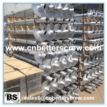 Hot dipped galvanized round shaft helical pile