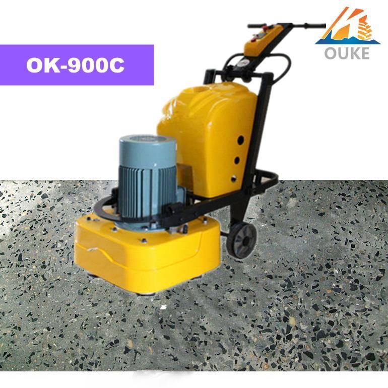 OK-900C concrete floor grinding and vacuum cleaner machine