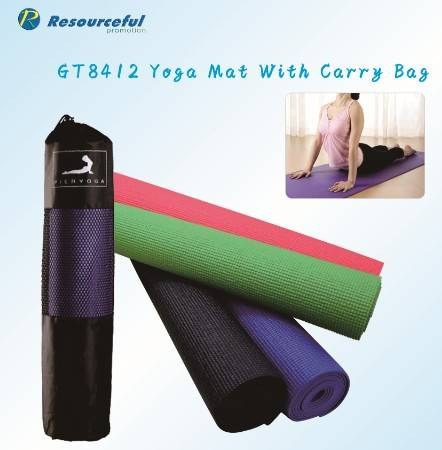 soft and comfortable PVC yoga mat with carry bag/pvc yoga mat,Yoga Accessory/wholesale custom anti-s