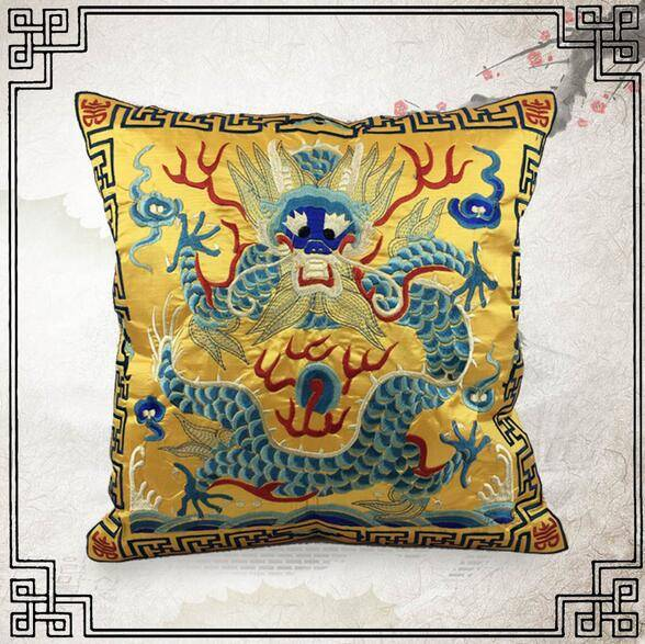 Dragon Embroidery Cushion Cover
