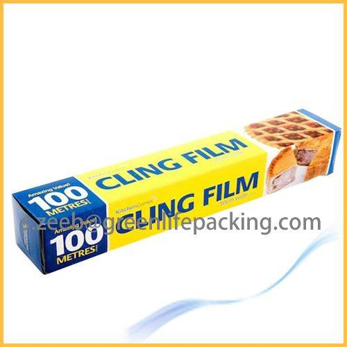 Clear PE food wrapping film roll for fruit packaging
