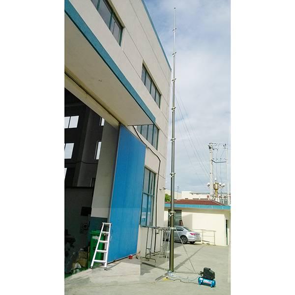 12m pneumatic telescoping mast for mobile antenna