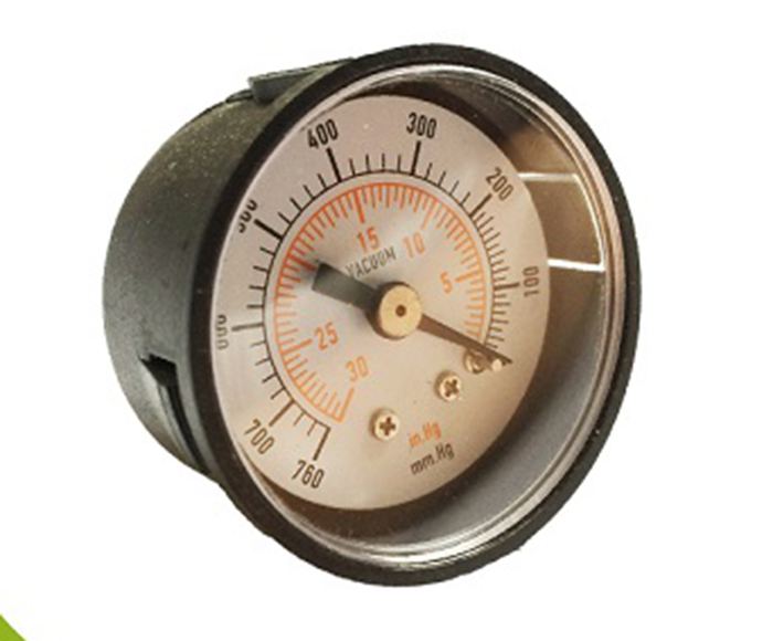 Vacuum Pressure Gauges ,plastic case, no thread, 0-760mm.Hg/0-30in.Hg
