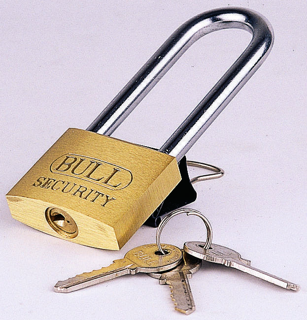 Heavy duty Brass padlock with long shackle