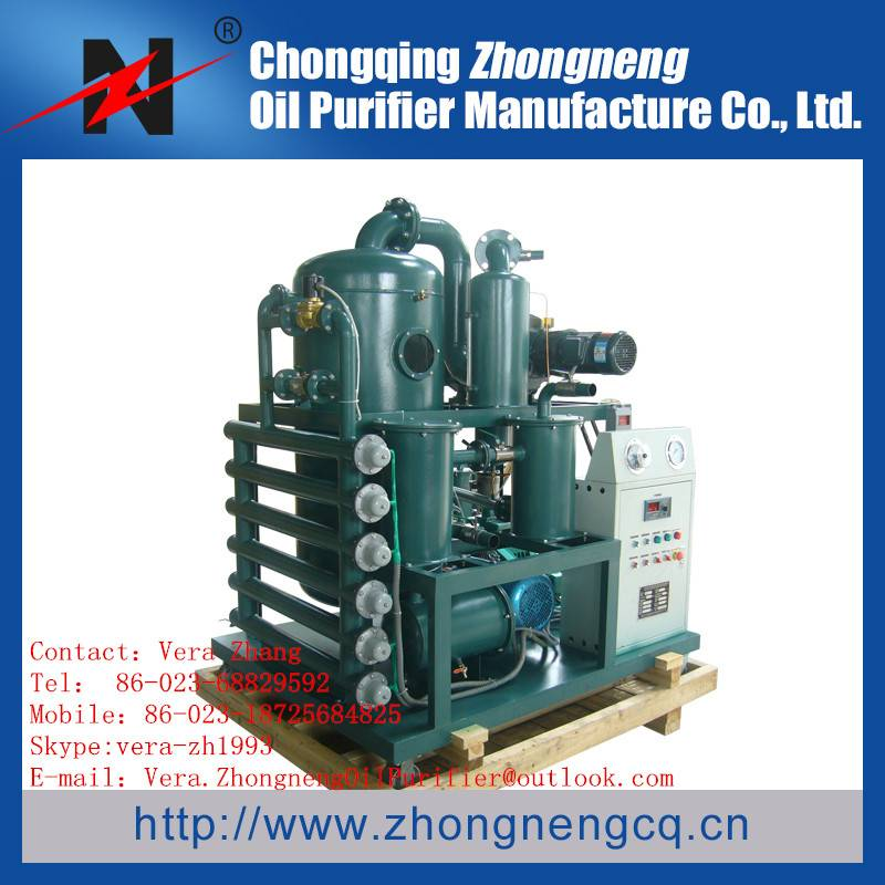 Double-Stage Vacuum Insulating Oil Regeneration Purifier Series ZYD-I / Transformer Drying machine