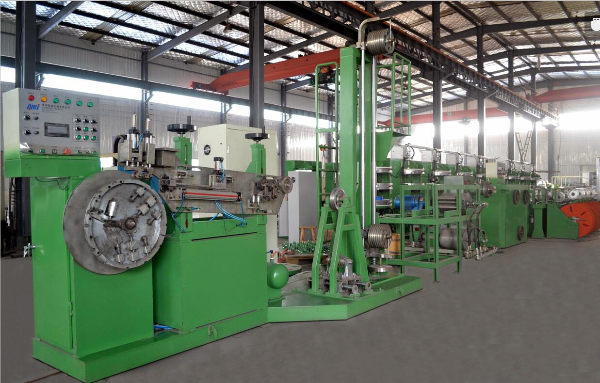 Tire bead wire ring grommeting extruder producing machine