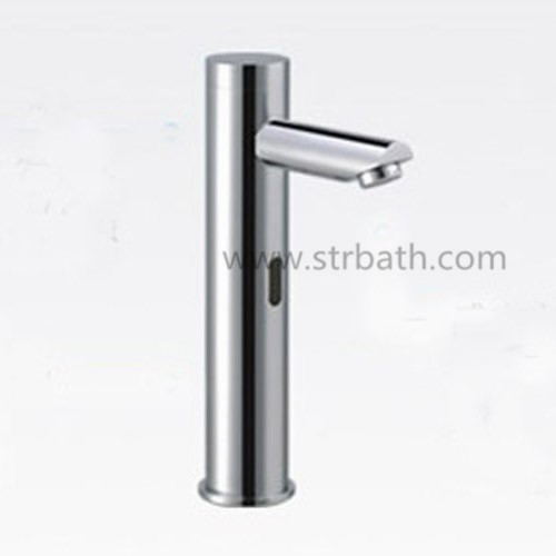 Brass Chrome Plating Bathroom Basin Automatic Sensor Faucet