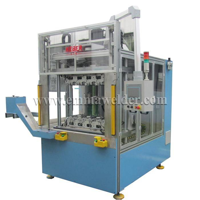 Hot plate welding machine for auto expansion kettle