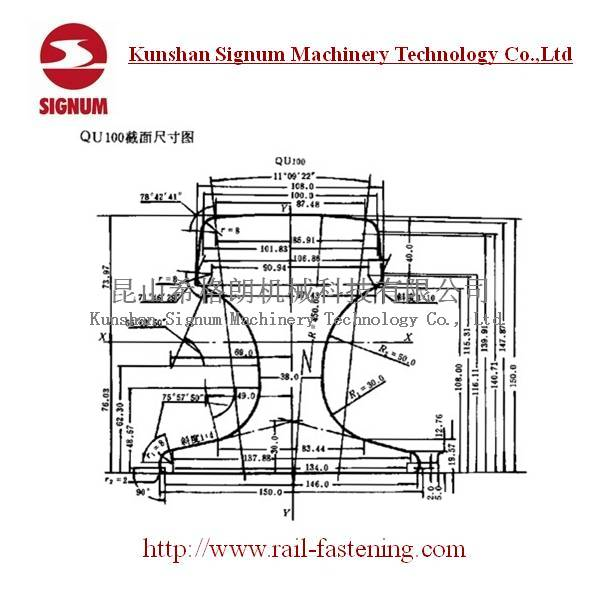 Chinese Standard QU100 Steel Rail