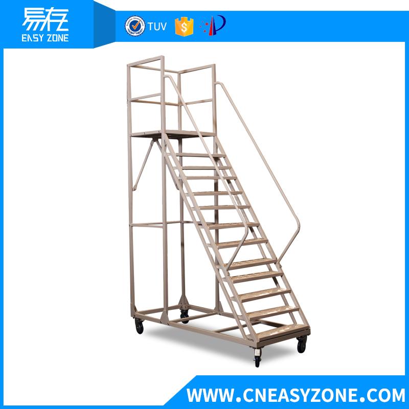 Easyzone 3m steel warehouse step ladder