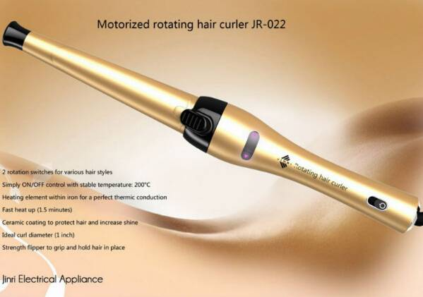 "1"" Motorized Rotating Hair Curler Professional Salon Use Curling Iron"
