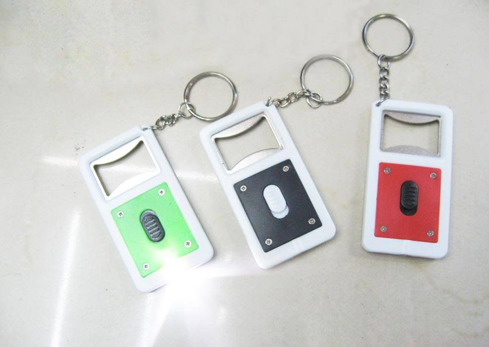 bottle open key chain with LED