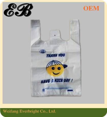 Disposable Supermarket Shopping T-shirt Bag