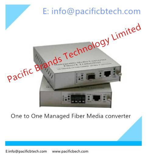 One to One Managed GE Fiber Media Converter