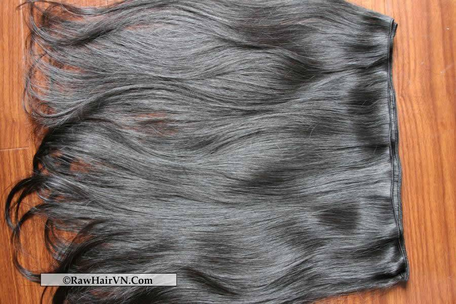 Vietnamese remy hair, Grade 7A raw remy human hair product, unprocessed virgin vietnamese weft hair