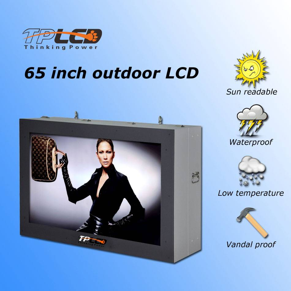65'' All Weather Outdoor sunlight readable wall mounted horizental LCD-OD65L02