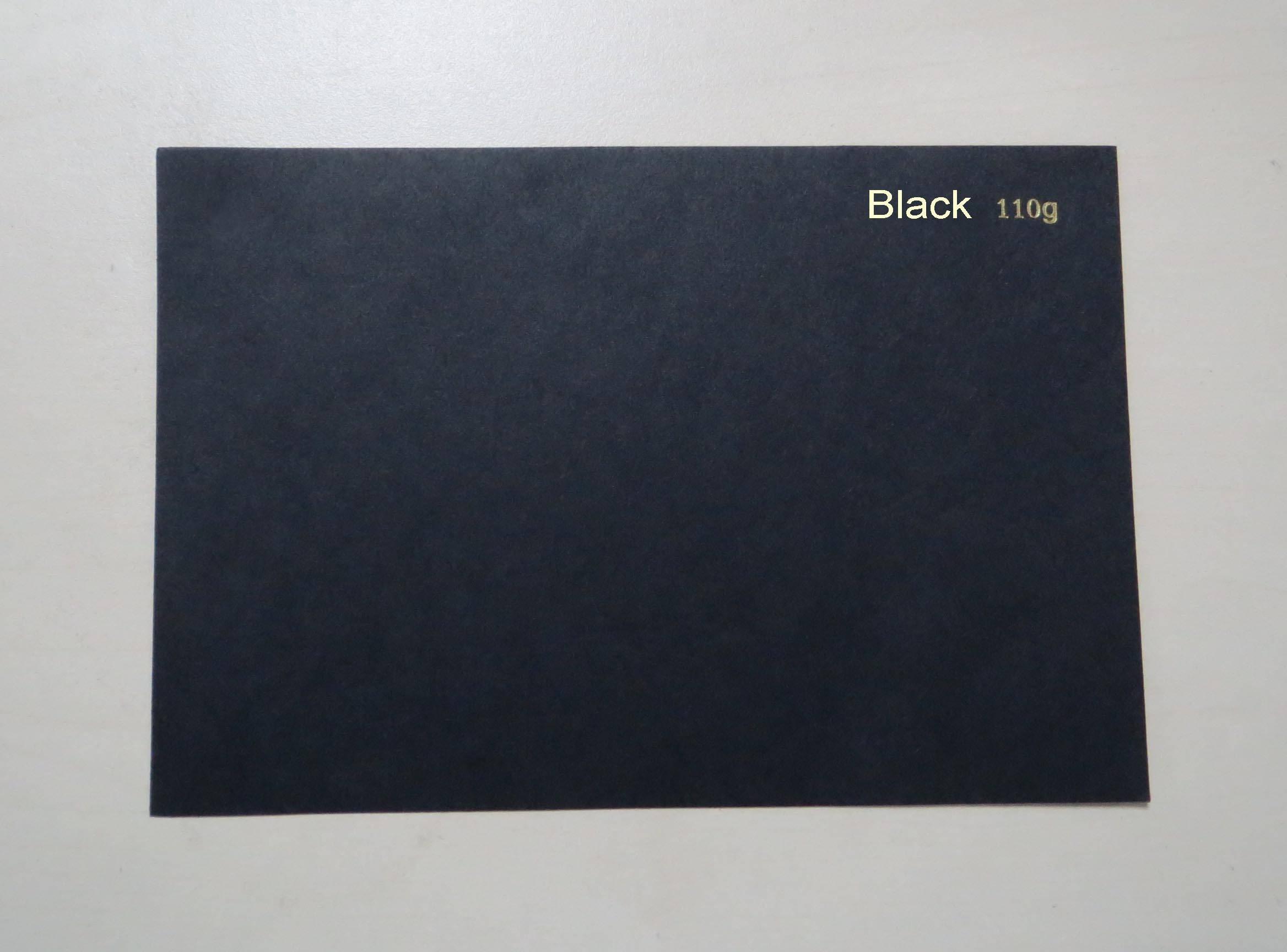80g-450g black paper, black cardboard, black paperboard