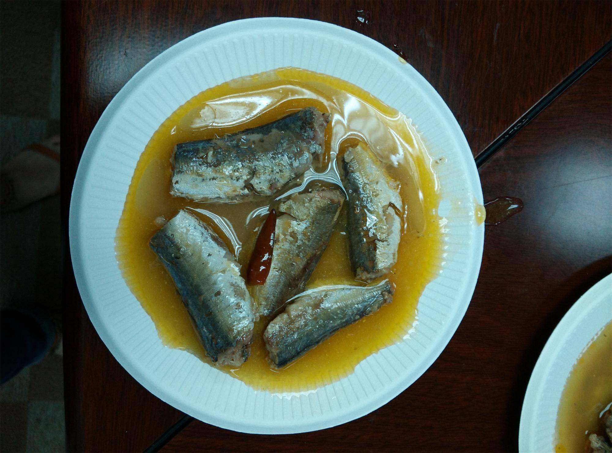 425g/240 cannedJack Mackerel in Oil,canned fish manufatcurer, cylinder can, halal, haccp certificate