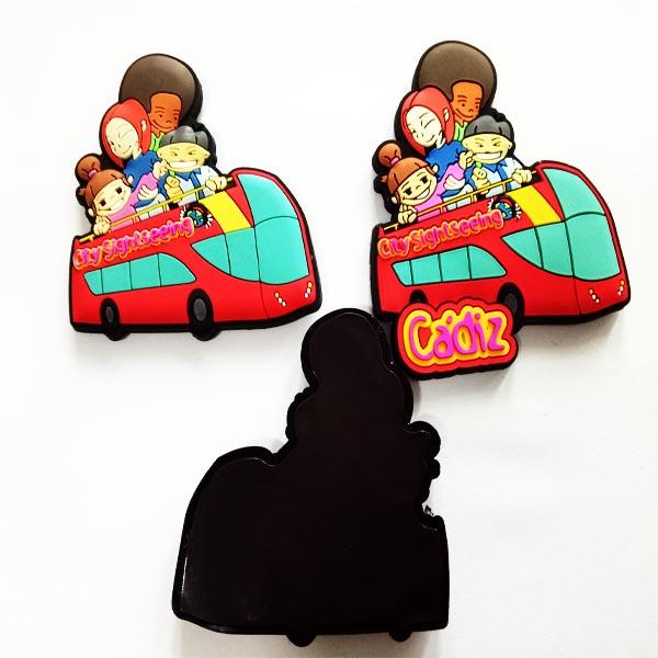 Factory OEM City tourist plastic souvenirs PVC fridge magnet Memo Sticker