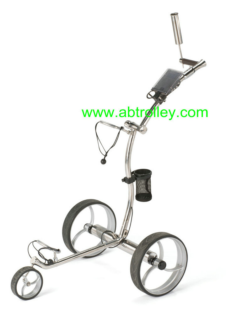 Noble 009E electrical stainless steel golf trolley