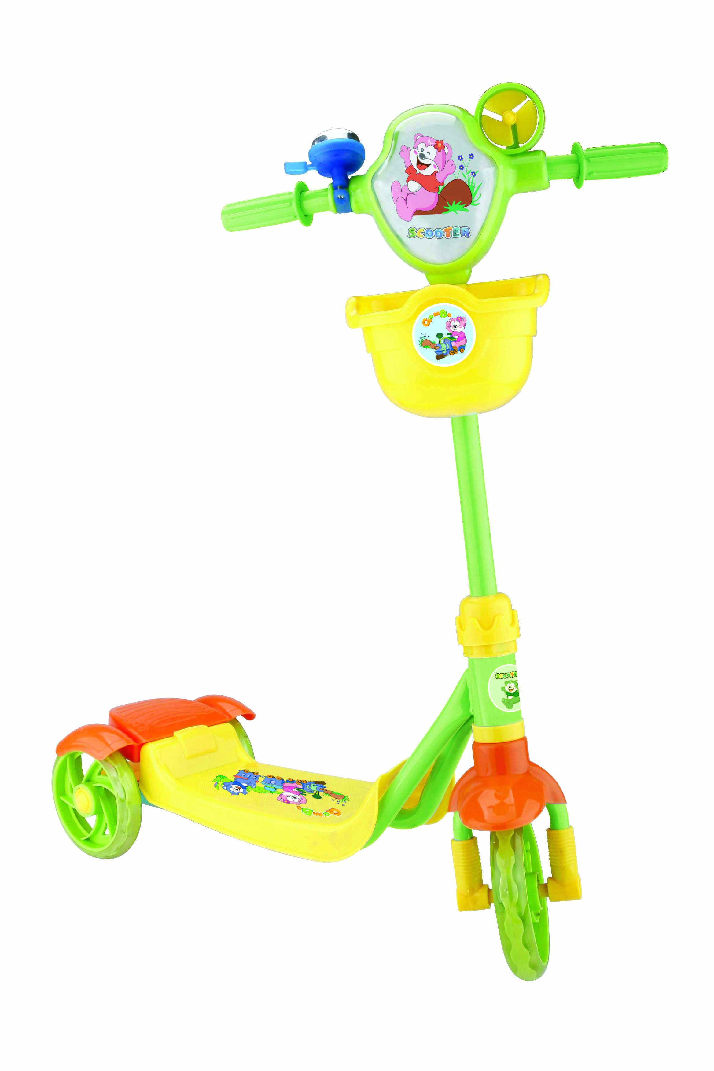 2015 new style kids pedal kick scooter with 3 wheels