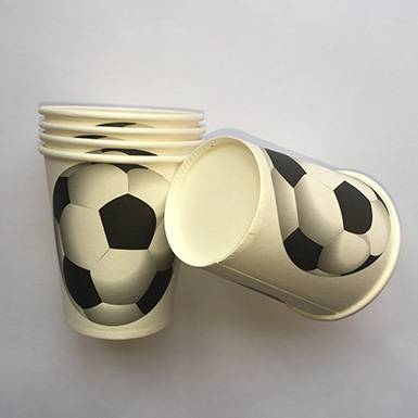 Wholesale Custom Printed Soccer Fanatic Paper Cups