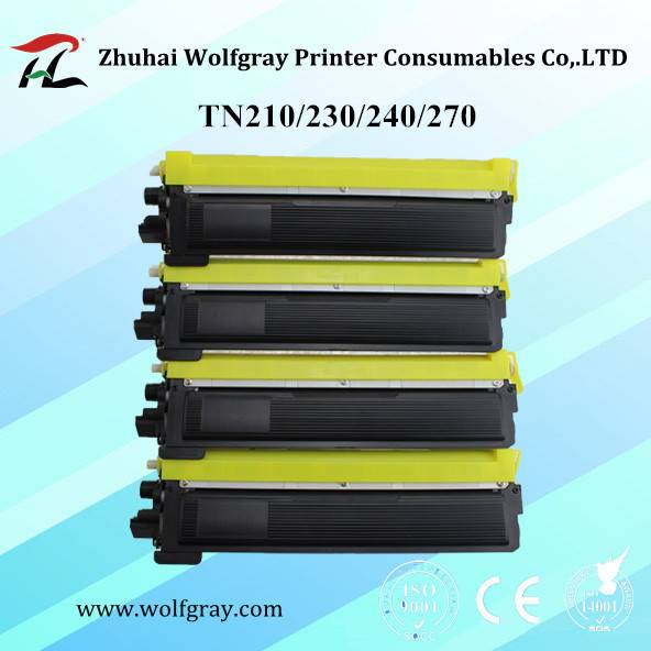 Compatible for Brother TN210/TN230/TN240/TN270 color toner cartridge