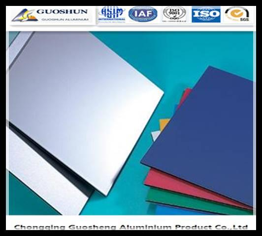PE/PVDF colour coated aluminium sheet /coil 1050,1060,1100,3003,3004,5005,5052,5083