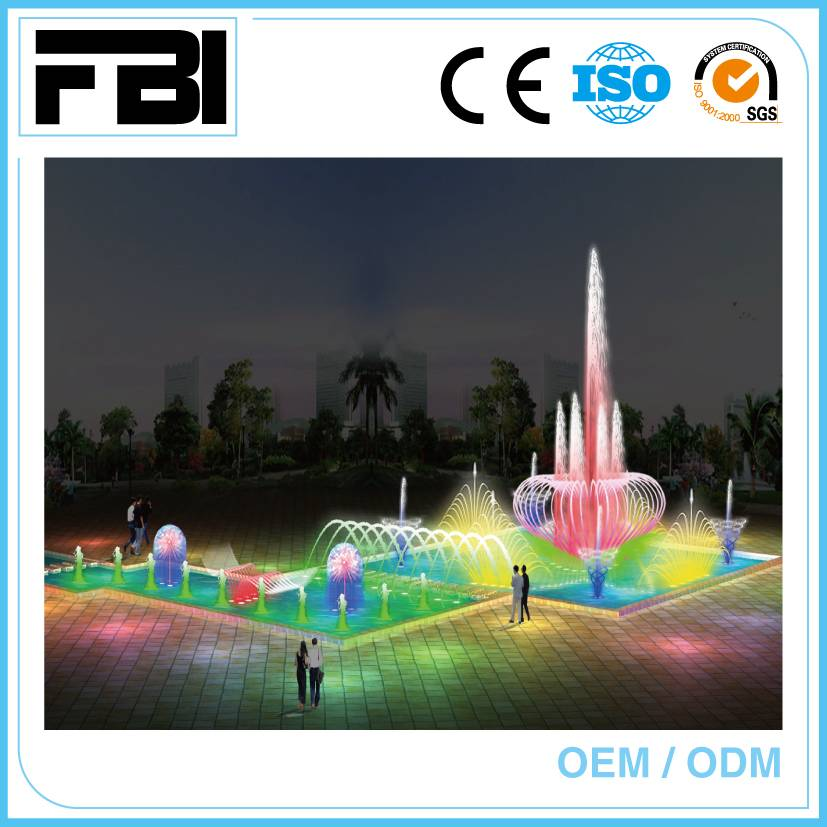 customized music fountain, free fountain design