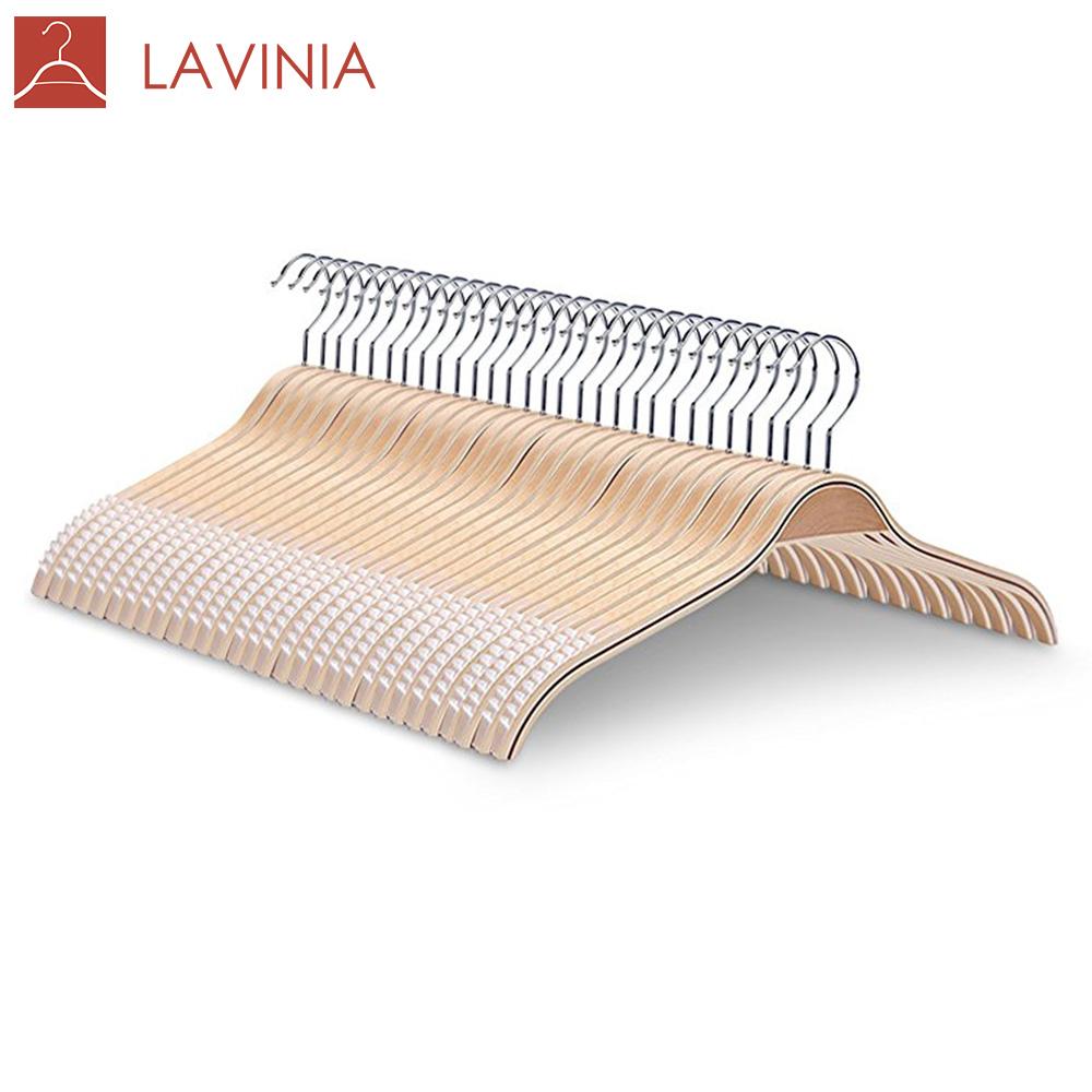 LAVINIA Amazon Ready to Ship Wood Clothes Custom Laminate Hanger