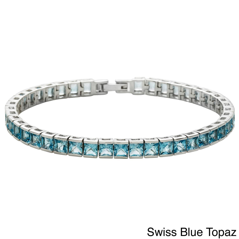 elegance & nobleness 316L stainless steel 3mm SQ bezel setting diamond tennis bracelet
