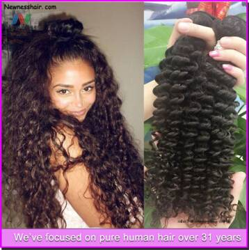 Natural black unprocessed 100% virgin brazilian remy human hair body wave extension bundles