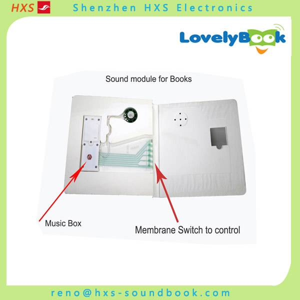 Customized music sound module for children books with PET film