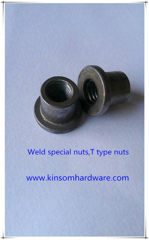 Weld special nuts,T type and round non standard weld nuts