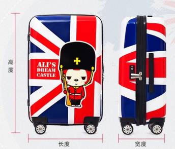 Modern COCO ABS+PC Superhard suitcase Female customs lock trolley suitcase