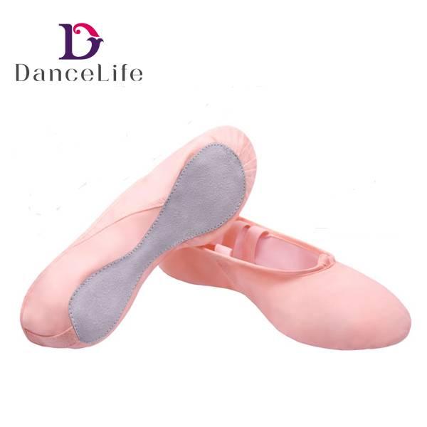 Wholesale soft ballet shoes ballet dance shoe canvas ballet flats for girls dancing(S5024)