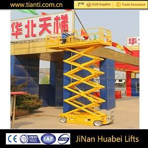 CE hydraulic electric car scissor lift for air work