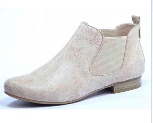 Beige Suede Women Flat Comfortable Ankle Boot