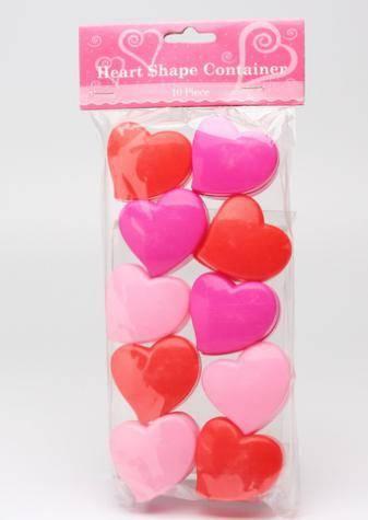 10pcs Mini heart shape case