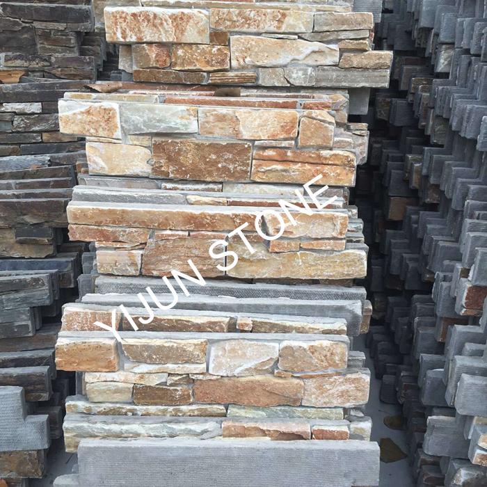 YIJUN STONE/ Warn color natural stone/ Fireplace stone/ wall stone