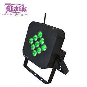 7c-LPB9   9 RGBWA Battery PAR LED DJ Lighting