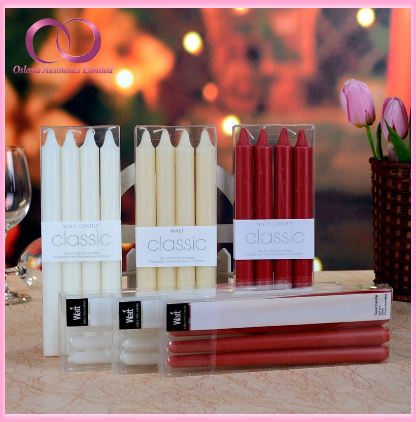 Multi Color Plain Tapered Candles