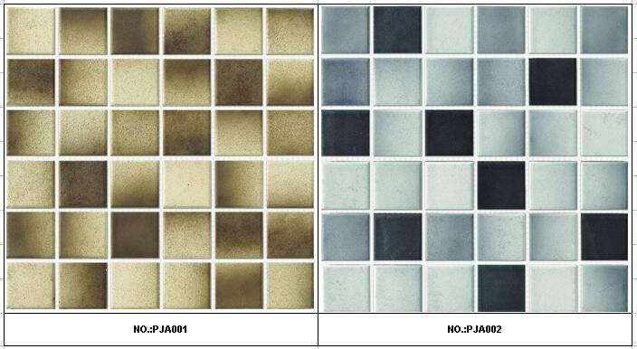 48X48mm Rustic Shading Color Porcelain Mosaic