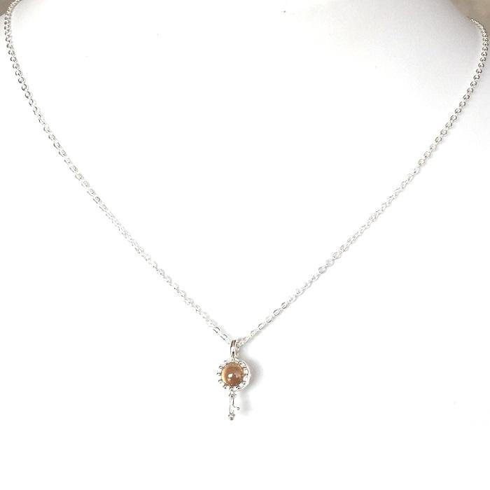 cz sterling silver pendant
