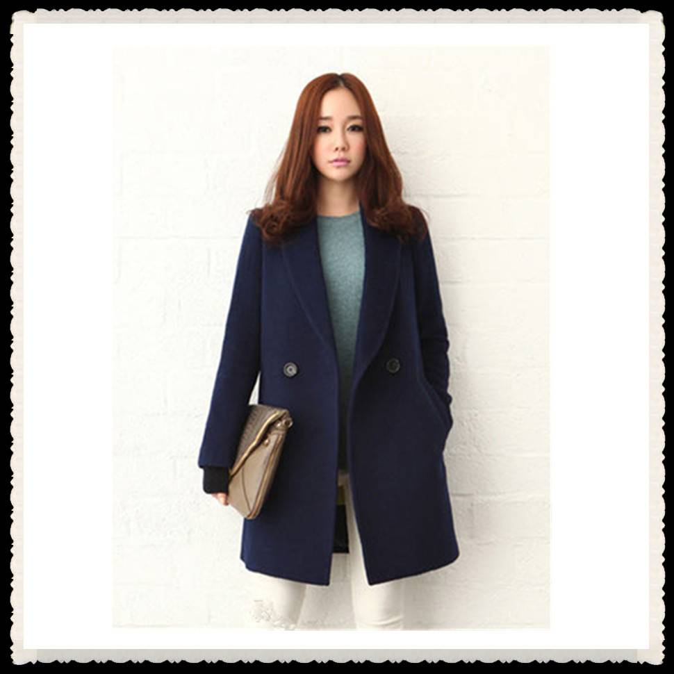 New design 2016 women winter cashmere long coat