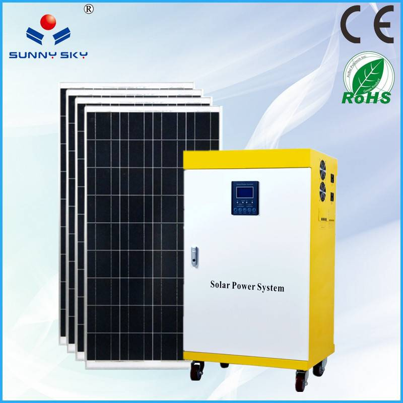 600W solar power system with mppt solar controller inverter