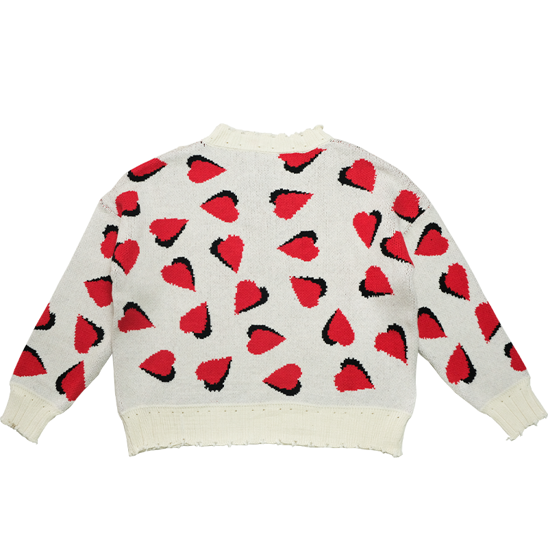 2021ss New Arrival Ladies Heart Pullover Sweater