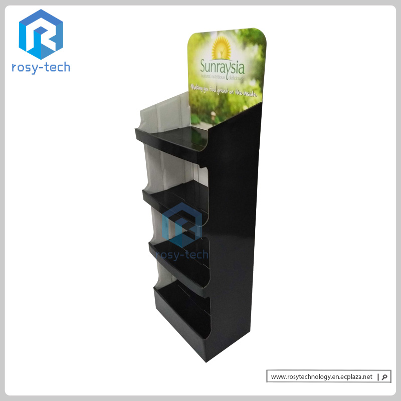 Hot Sale Retail Store Supermarket Cardboard Chocolate Display Rack for Promotional sale