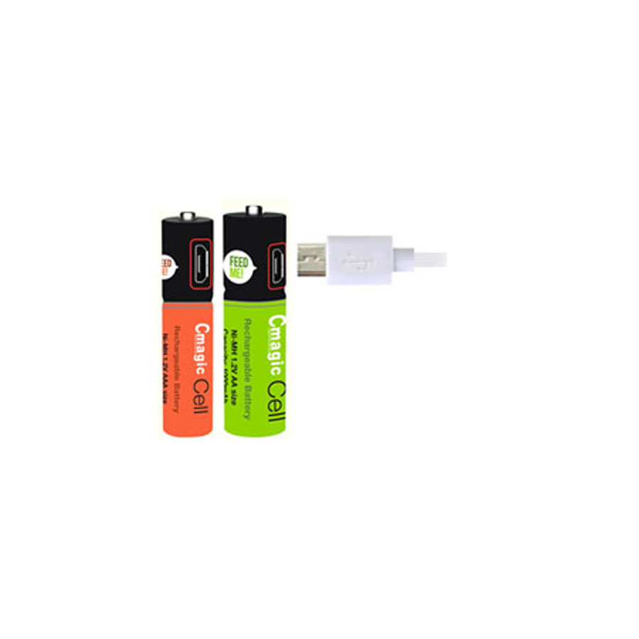USB battery AA battery 1000mAh magnification rechargeable