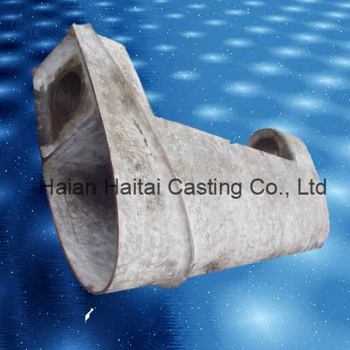 Steel casting marine rudder horn for ship